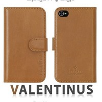 SPIGEN SGP iPhone 4 / 4S Leather Wallet Case Valentinus Series [Brown]