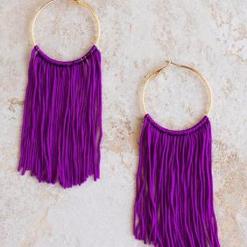 FC Fringe Earrings - Violet