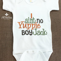 Girls Duck Dynasty Baby  Boys Onesuit - Embroidered - Si Sayings - Baby Shower Gifts - Yuppie Boy- Jack