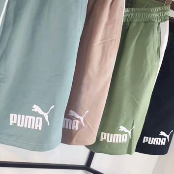 puma casual print contracted stripe vertical shorts g a xycl  number 1