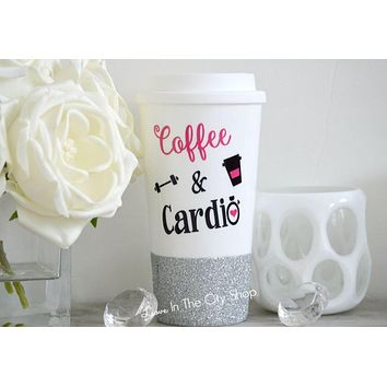 Coffee and Cardio Travel Mug