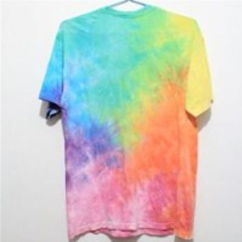 MP Rainbow Color Tie Dye T Shirt 052830 HDP 0705 Size L