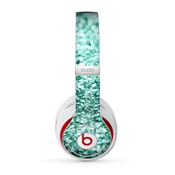 The Aqua Green Glimmer Skin for the Beats by Dre Studio (2013+ Version) Headphones