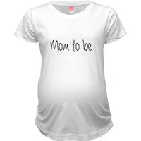 NattieDuds Maternity Clothing - Mom to Be Crew Neck Maternity Top - Women's Maternity