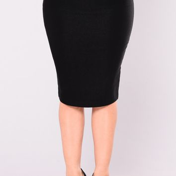 Constance Pencil Skirt - Black