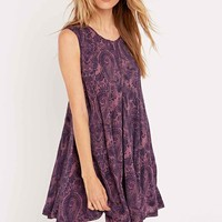 Ecote Clary Open Back Dress in Purple - Urban Outfitters