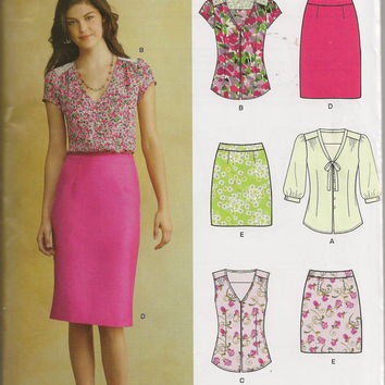 New Look 6107 Sewing Pattern, Misses Top And Skirt, Size 8 to 18