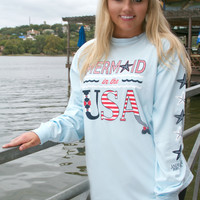 Mermaid in the USA - Long Sleeve