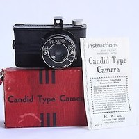 Vintage 1940s Pickwick Candid Type Camera 35mm Film New in Box NIB 40s Toy Gift