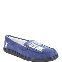 Doctor Who TARDIS Guys Moccasin Slippers