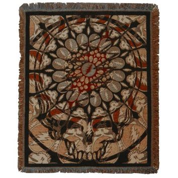 PEAPGQ9 Grateful Dead - Steal Your Face Batik Throw