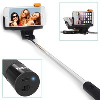 Selfie Stick, ZiBay(TM) KJSTAR Pro Self-portrait Monopod Extendable Selfie Stick with built-in Bluetooth Remote Shutter With Adjustable Grip Holder for iPhone and Android