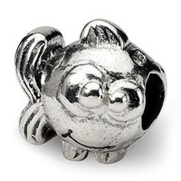 Sterling Silver Kids Fish Bead