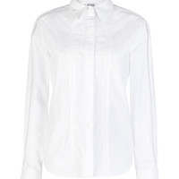 Preen by Thornton Bregazzi Cotton-Poplin Crane Shirt White