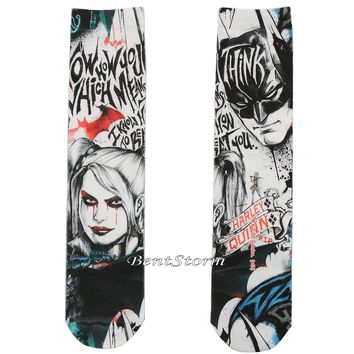 Licensed cool Suicide Squad DC  Batman: Arkham Knight Harley Quinn Crew Socks ONE Pair
