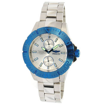 Invicta 14059 Men's Pro Diver Silver Dial Blue Bezel Stainless Steel Dive Watch