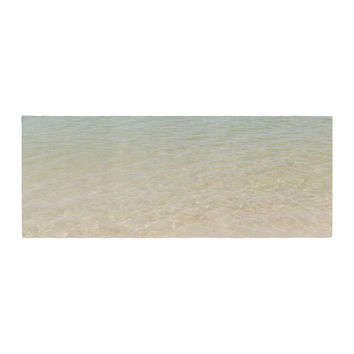 "Catherine McDonald ""Ombre Sea"" Beach Photography Bed Runner"