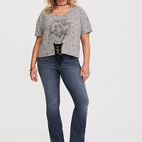 Harry Potted Grey Starry Lace-Up Tee