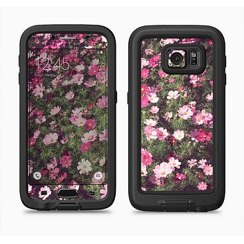 The Vintage Pink Floral Field Full Body Samsung Galaxy S6 LifeProof Fre Case Skin Kit