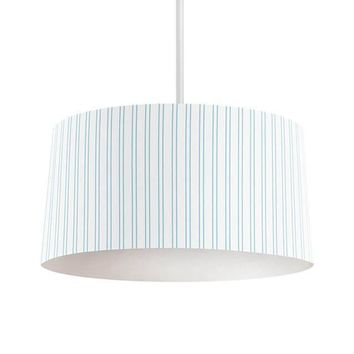 Light Blue Vertical Stripes Pendant Lamp