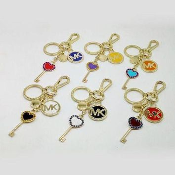 DCCKNQ2 MK Woman Fashion Plated Multicolor Bag Ornaments Key Buckle-2