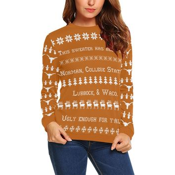 Austin University Women's Ugly Christmas Sweater Sweatshirt; 6 variants available