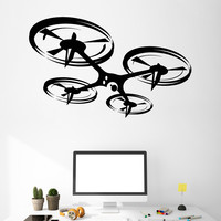 Vinyl Wall Decal Quadcopter Drone UAV Art Stickers Murals Unique Gift (ig4897)