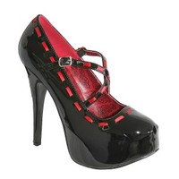 TEEZE 18 Red Black Crossover Platform Heels - Buy Online Australia Tragic Beautiful