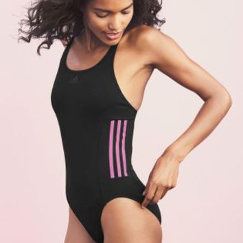 Buy adidas Black And Pink 3 Stripe Swimsuit online today at Next: Deutschland