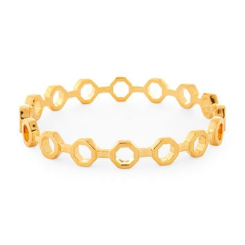 Gold-Tone Octagon Bangle