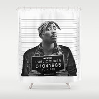 Public Order Tupac Shower Curtain by Maioriz Home