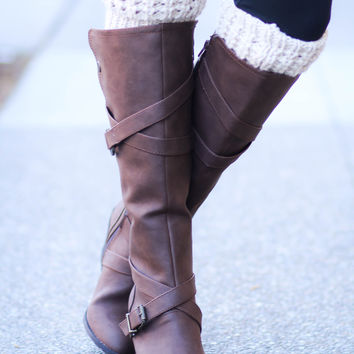 Texas Gal Snaps & Straps Business Boots- Brown