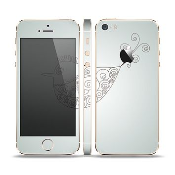 The Simple Vintage Bird on a String Skin Set for the Apple iPhone 5s