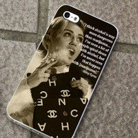 Miley Cyrus Smooking M Quote fits for iPhone 4/4s/5/5S/5C, Samsung S3/S4 case cover, Gift Under 25
