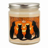 Halloween Cats Candle, Custom Scented Candle, Vintage Candle, Vintage Halloween Candle, Container Candle, Soy Candle, Halloween Candle