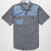 Lrg Young Blocka Mens Shirt Blue  In Sizes