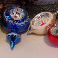 Vintage Indented Christmas Bulbs