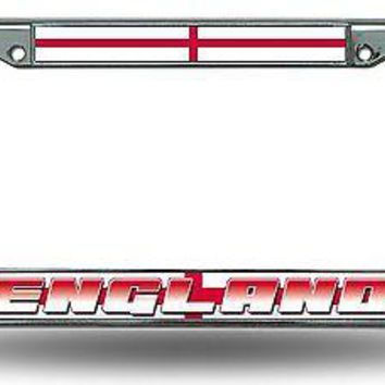 FIFA England Chrome Metal License Plate Tag Frame Cover World Cup Soccer COPA