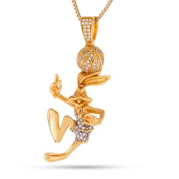 Space Jam x KING ICE – .925 Sterling Silver Bugs Bunny Necklace