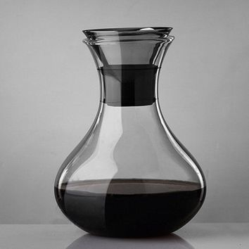 Hot Sale Handwork Blown Decanters Glass Wine Decanter Capacity Red Wine Carafe Crystal Glass Vivid Breather Carafe Barware Tools