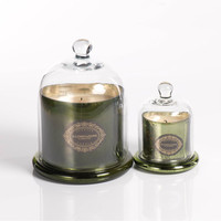 Illuminazione Candle with Dome - Olive Green