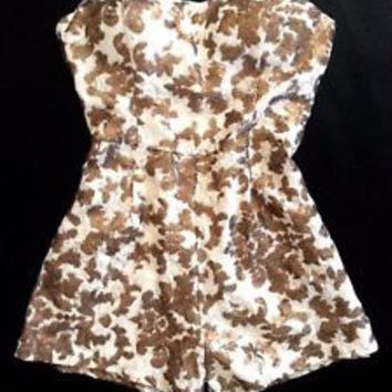 NWT BEBE strapless bustier lace sequin ivory zip back dress top romper M Medium