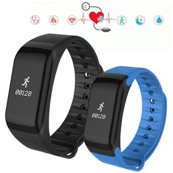 F1 Smartband Heart Rate Monitore Smart Wristband Bracelet Health Sleep Wrist Watch Waterproof Call Reminder 2018