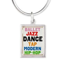 Dance Styles (#3) Silver Portrait Necklace