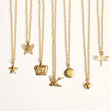 Little Gold Charm Necklace