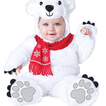 Baby's Cuddly Polar Bear Costume