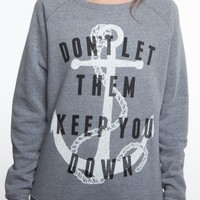 Glamour Kills Clothing - Girls Anchor Down Sweat Top