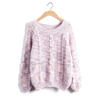 Women's Fashion Korean Sweater Pullover Winter Twisted Jacket [9176523076]