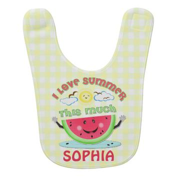 Custom Keepsake Summer Watermelon Baby Bib
