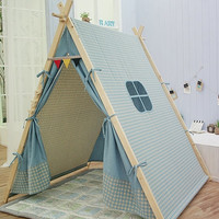 Blue teepee tent, play tent
